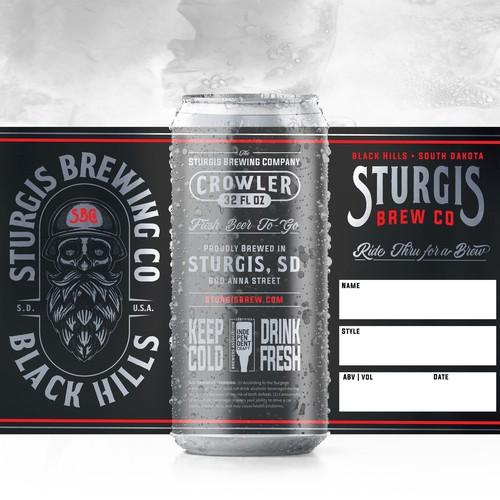 Beer Label, Sturgis Brewing Co. 32 oz. Crowler
