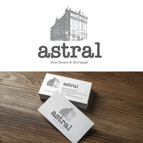 Logo design for Astral real estate company