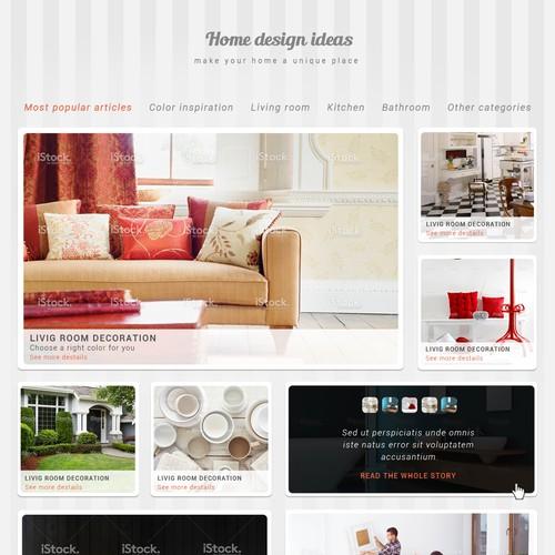 Web design for real estate company