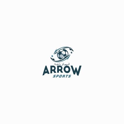 soccer logo with arrow