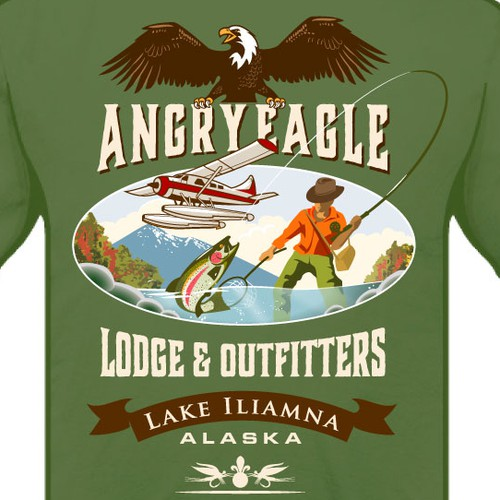 T-shirt design for a Lodge and Outfitters company