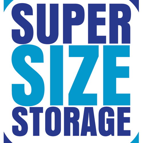 """Create a Clean Classy unlcuttered Logo for a Storage Company by the name """"Super Size Storage"""""""