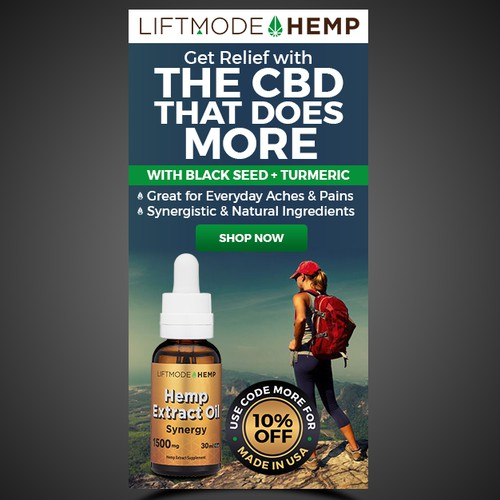Super-Duper Banner Ad for Innovative CBD Oil Brand