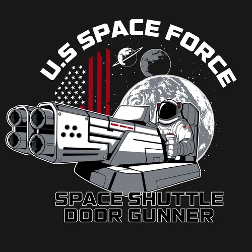 US SPACE FORCE, space shuttle door gunner emblem