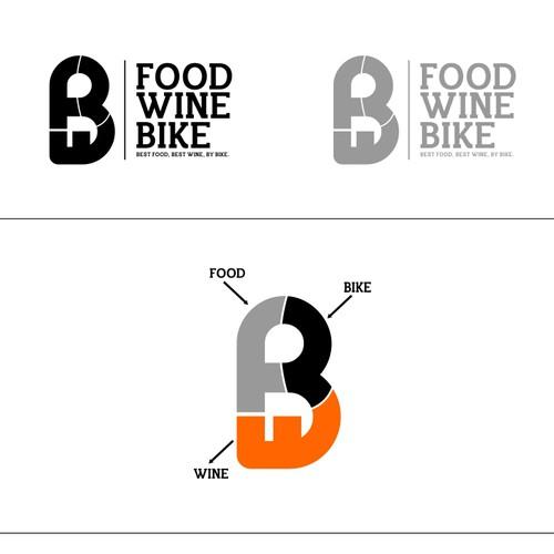 "Logo design for "" FOOD WINE BIKE ""."