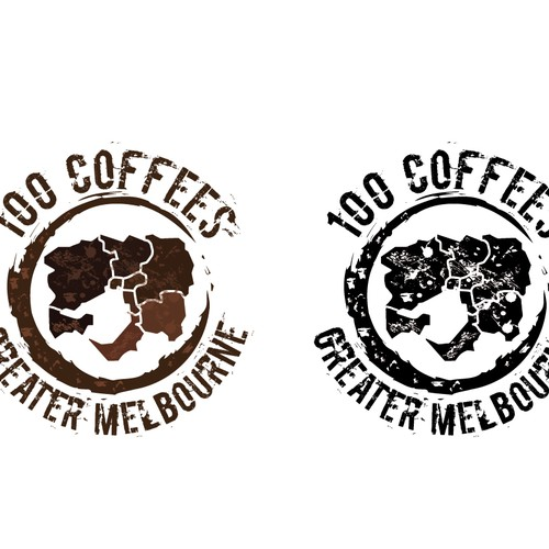 Coffee business logo (plus font and map)