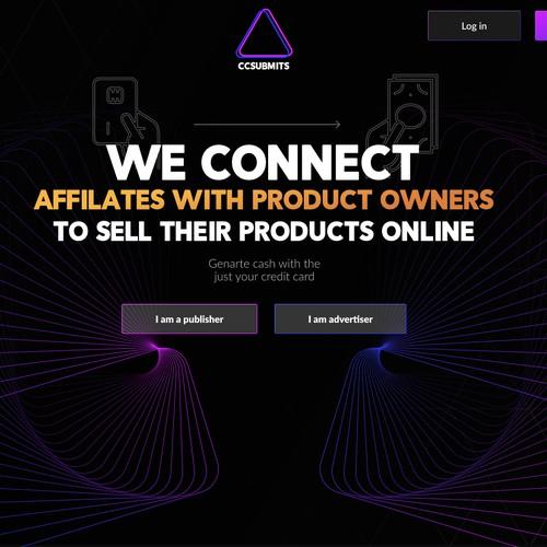 Dark theme website for marketing agency