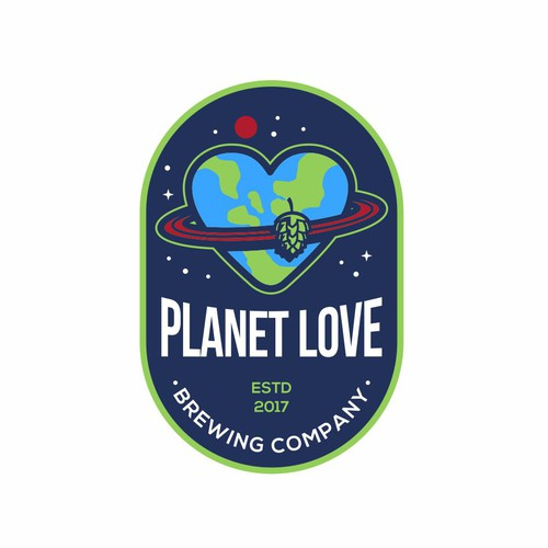 Planet Love Brewing Company Logo Design