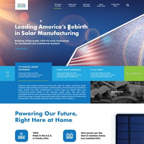 Solar Panel Manufacture Landing Page