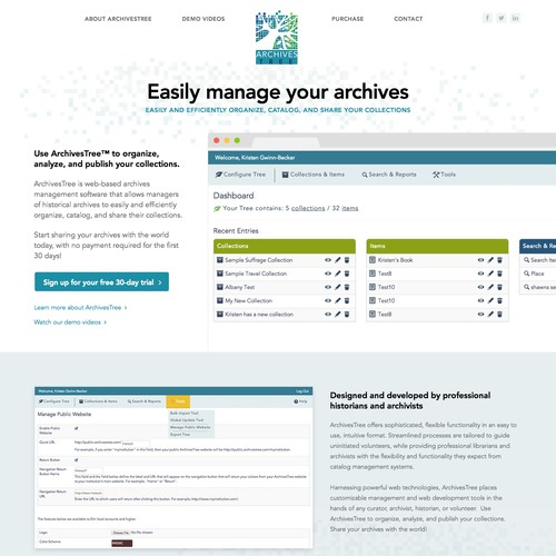 ArchivesTree Software Site