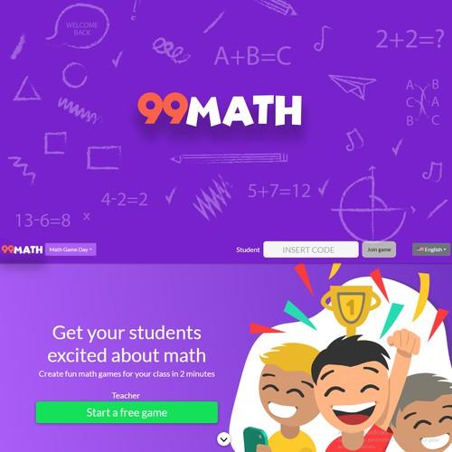 Logo concept for an online math games website for kids