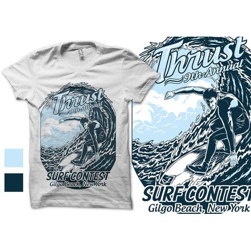 Surfing artwork for Thrust