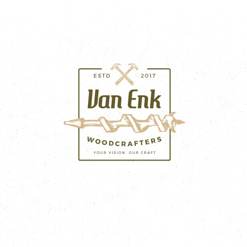 Custom wood crafting business logo design
