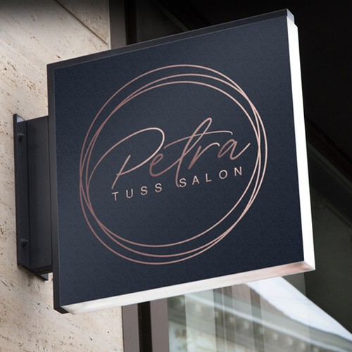 Petra Salon Logo Design
