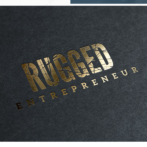 logo adressing rugged businessmen and women