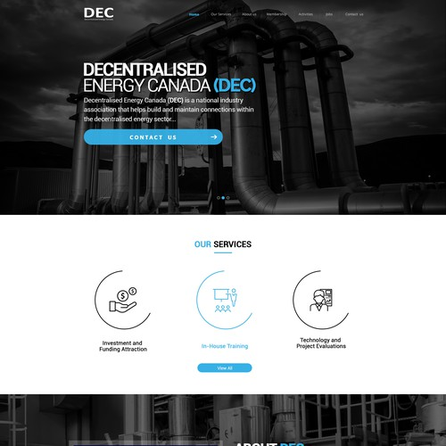 Redesign our website - Decentralised Energy Canada