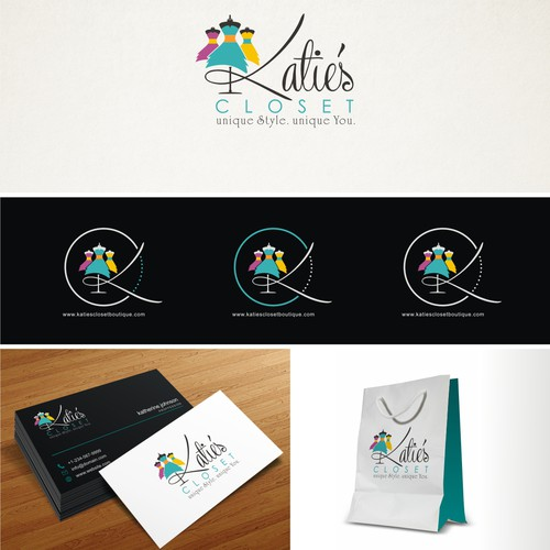Create an attention getting logo for online women and children boutique.