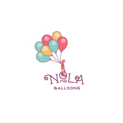Logo concept for balloons decoration company