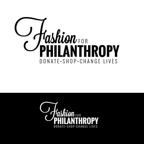 Create an engaging logo for Fashion for Philanthropy