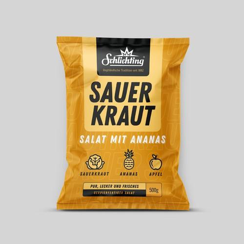 Packet design for Pineapple Sauerkraut Salad