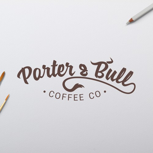 Porter and Bull Coffee Co Logo design