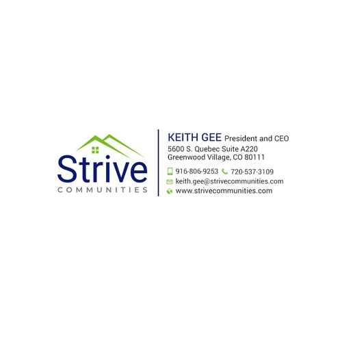 Email signature for Strive Communities