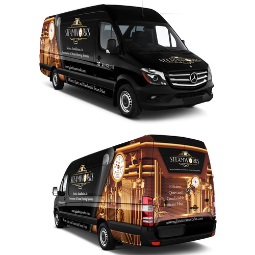 Steampunk / Art Deco Mercedes Sprinter Van Wrap Design