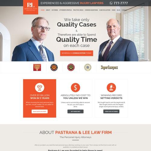 Pastrana & Lee Website Project