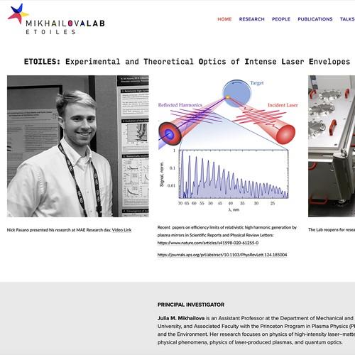 College Lab informational website