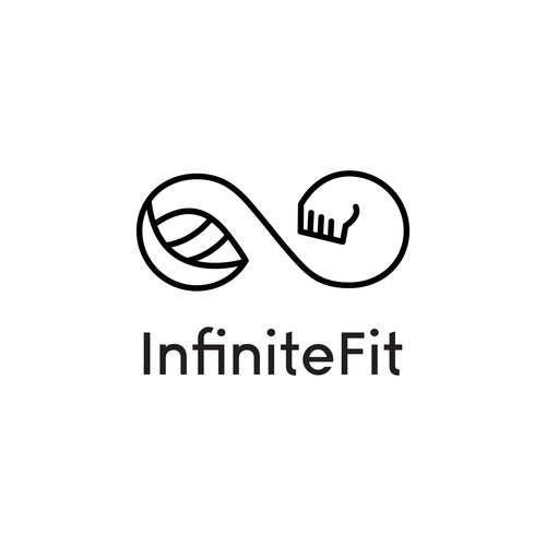 Logo concept for a company promoting fitness and healthy living