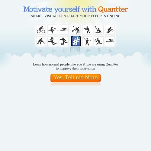 Quantter Landing Page Design