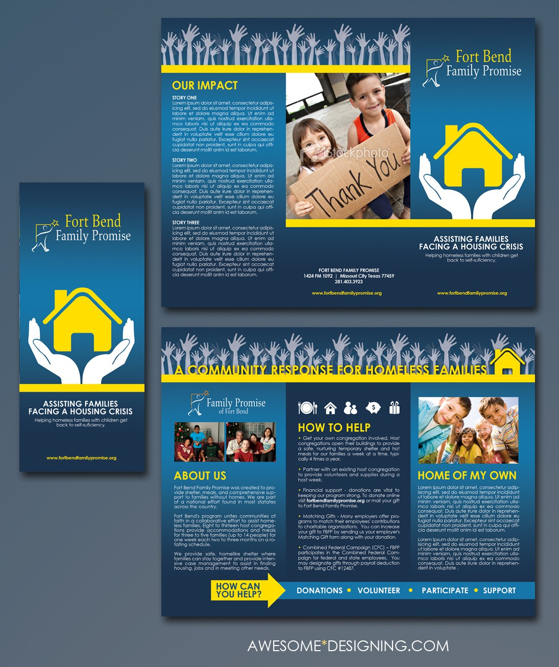 brochure design for Fort Bend Family Promise