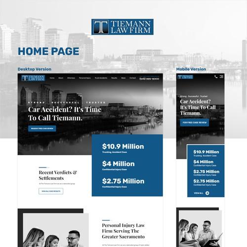 Web design concept forTiemann Law Firm