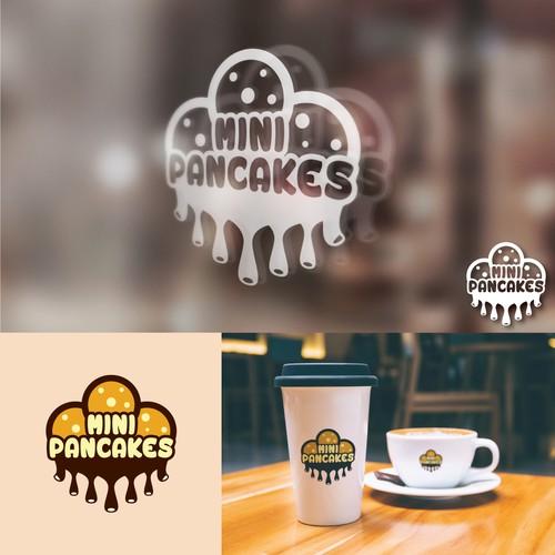 Fun and yummy logo for Mini Pancakes