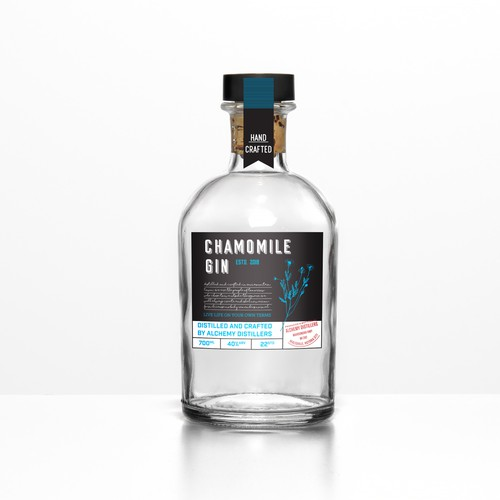 Label oncept for a Chamomile Gin