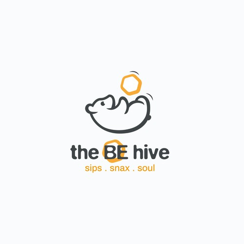 "Fun & playful logo for Cafe ""the BE hive"""