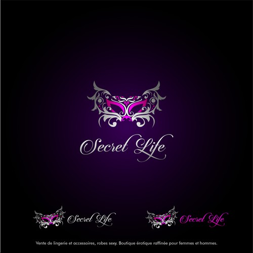 exotic and elegant logo for Secret Life