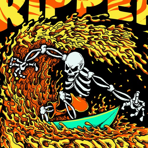 "SURF RIPPER (R) - MALE - ""SUPER HOT"" - T-SHIRT DESIGN"