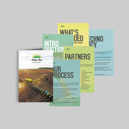 Marketing material folder booklet & pages