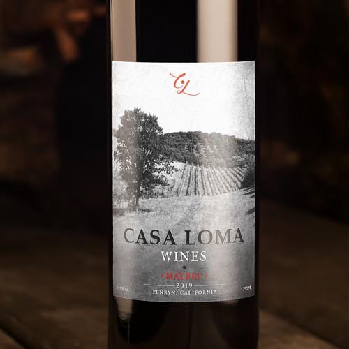 Design a Mid-Century Modern Farmstyle Wine Label.