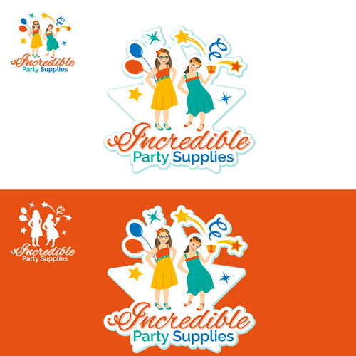 Create a cute cartoon design from picture and add party supplies