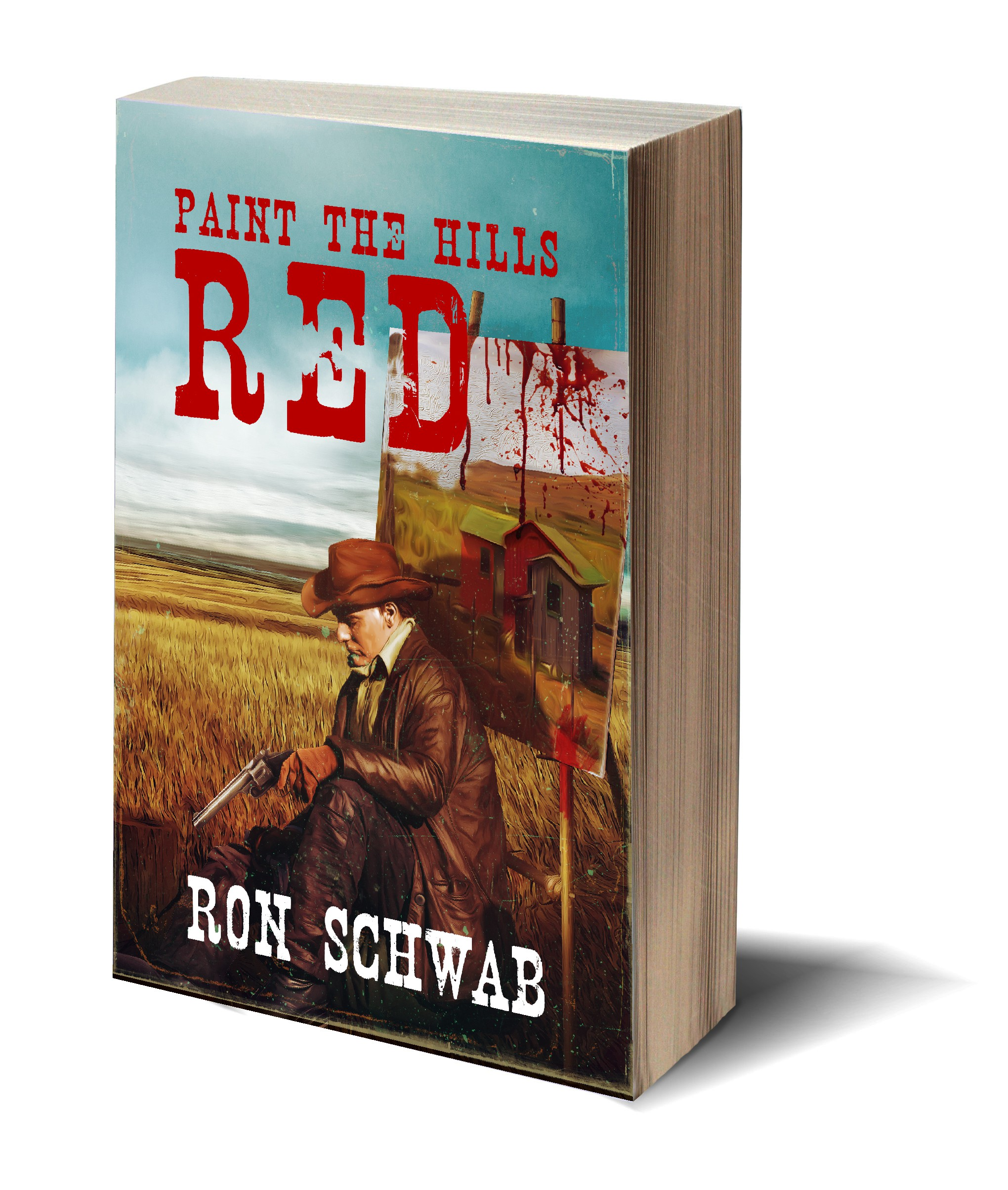 "Book cover for Western novel, ""Paint the Hills Red"""