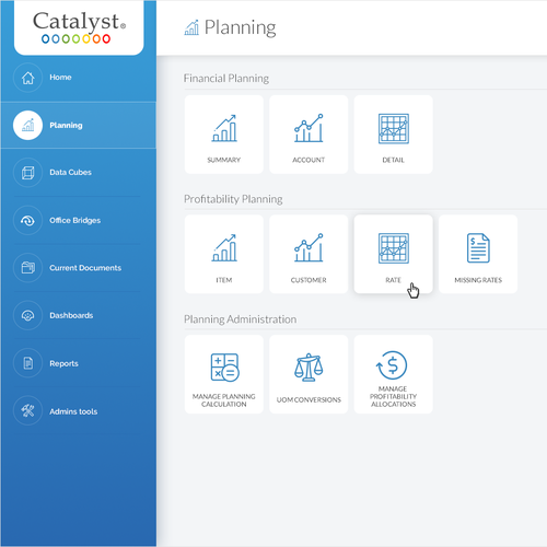 Redesign user interface for Catalyst CPM software