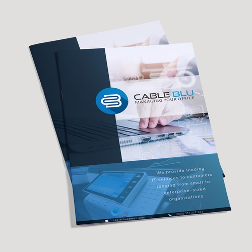 Cable Blu brochure design