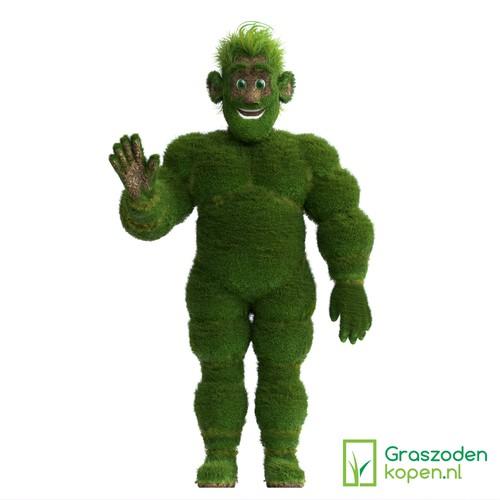 Grass Mascot for company