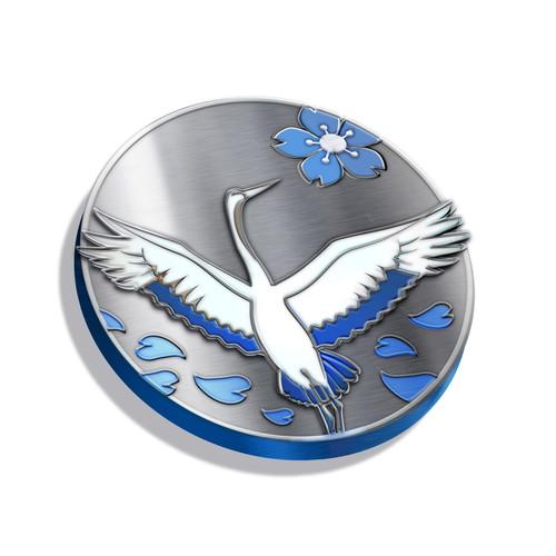 Japanese Crane coin