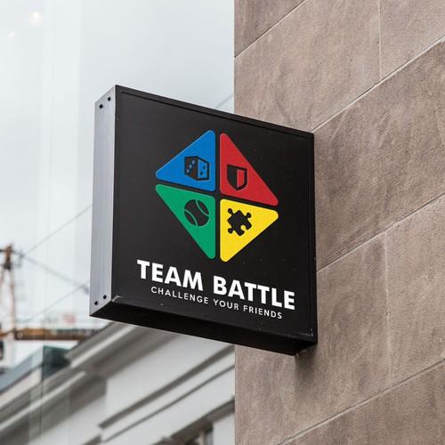 Colorful logo for Team Battle