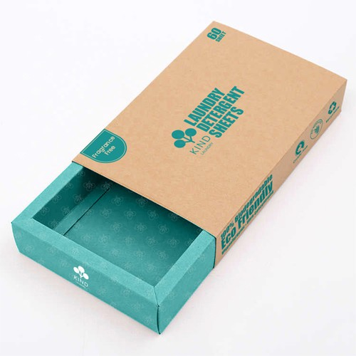 box packaging for laundry product