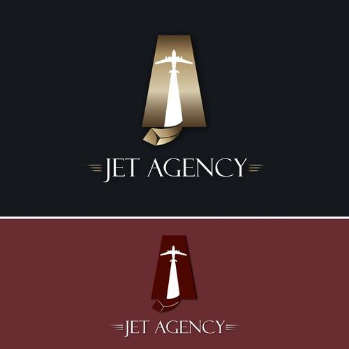 Jet Agency :logo for a private jets company
