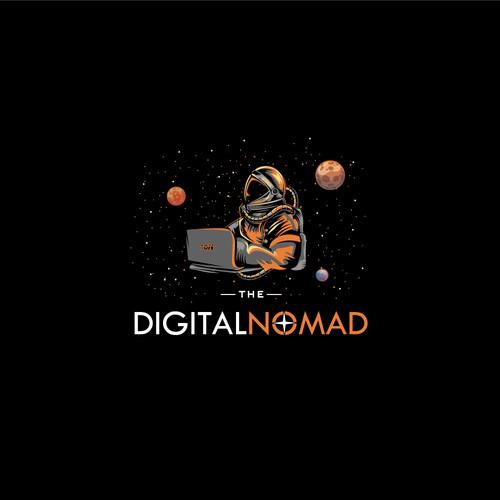 Digital Nomad Logo concept